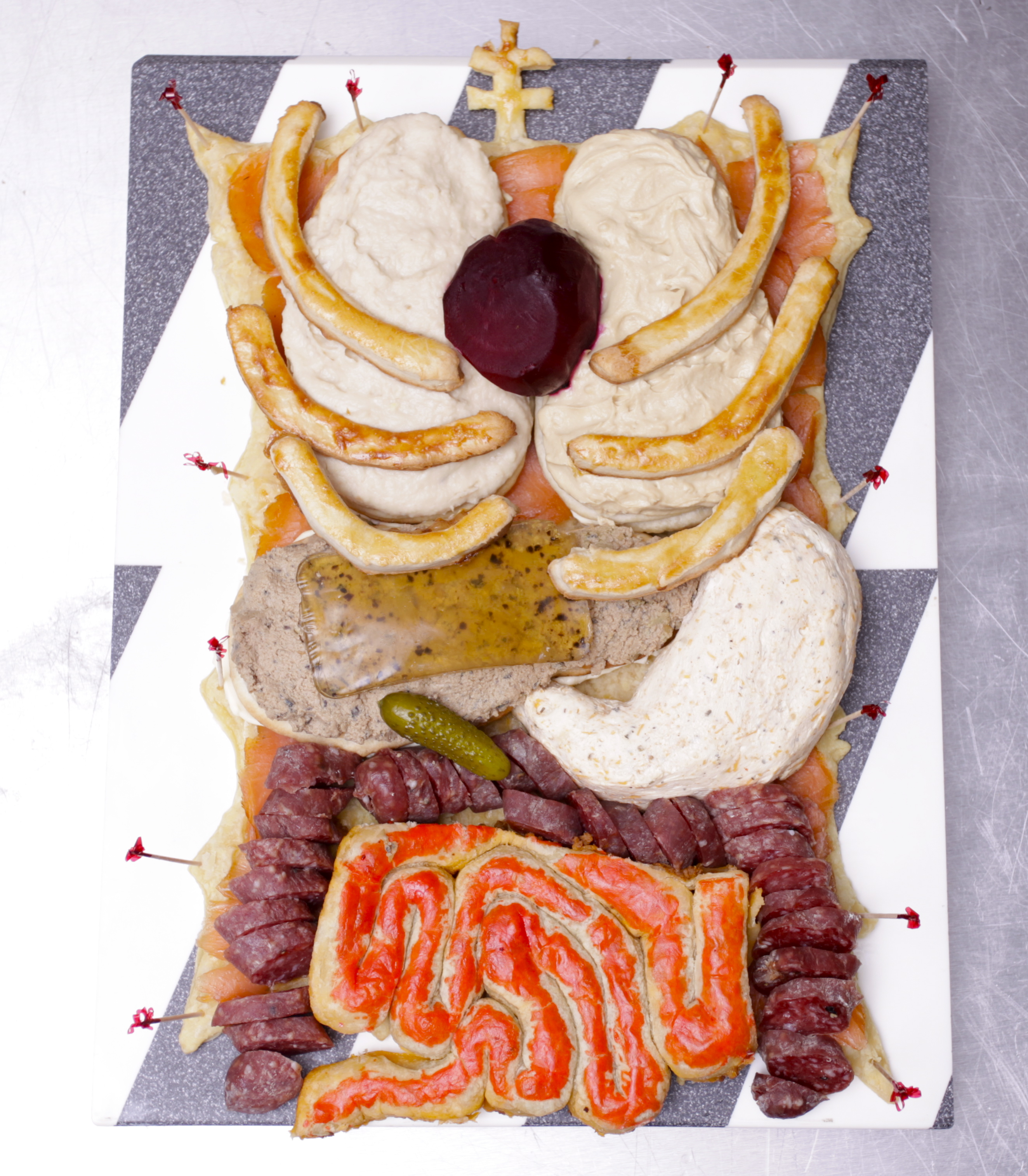 halloween human torso appetizer