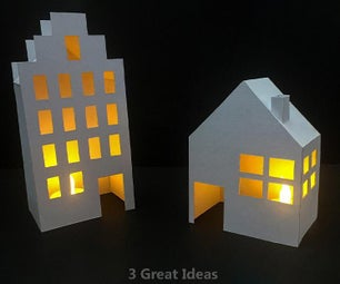 Lighted Houses Room Decor Diy