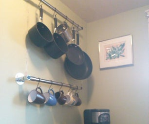 Simple Kitchen Racks From Lean Pipe
