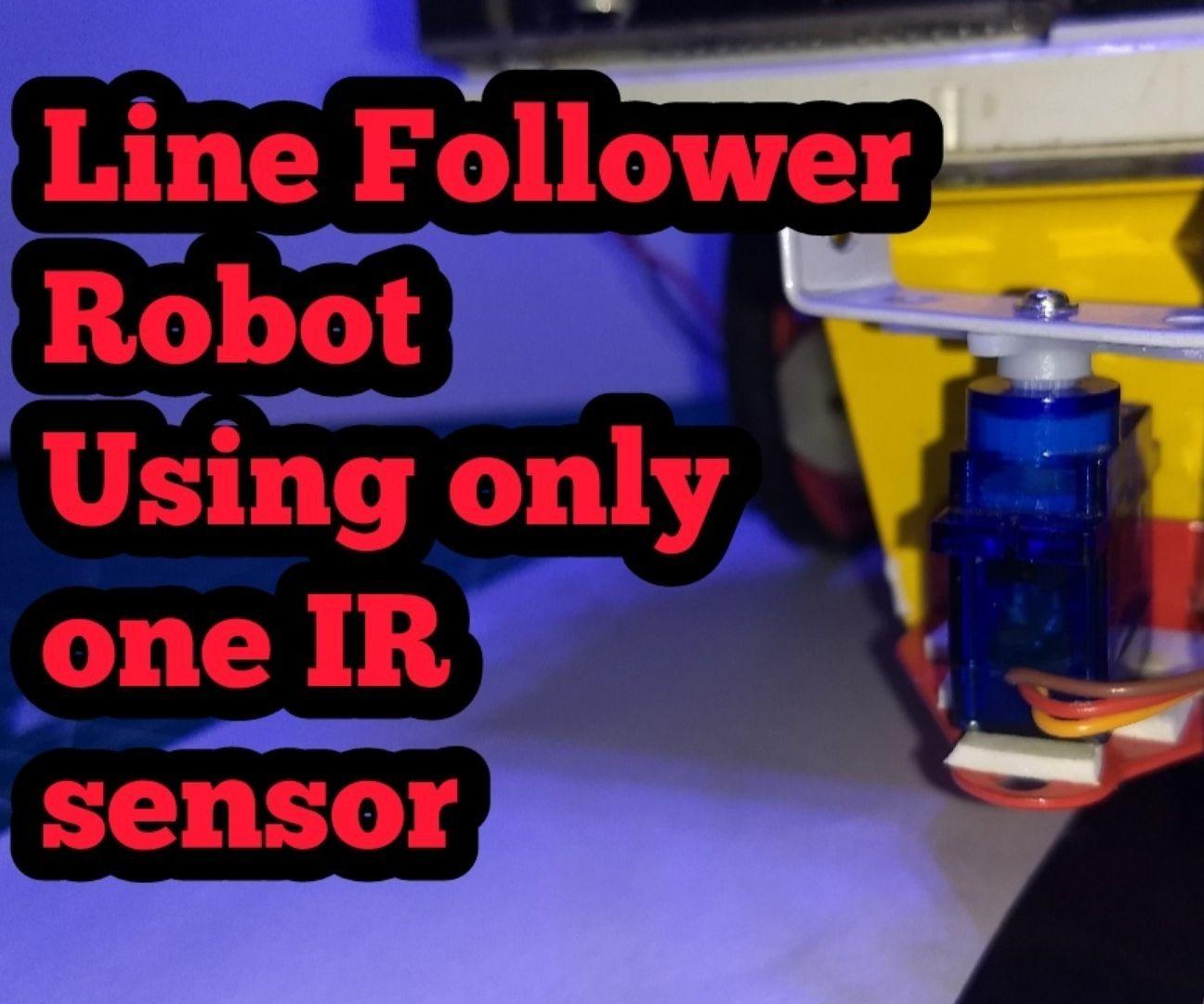Line Follower Robot Using Only One Sensor