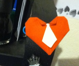 Origami Heart With Tie!