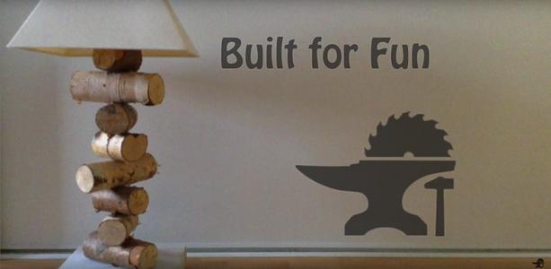 Built for Fun Lampe À Chevet Rustique En Rondin De Bois Rustic Bedside Lamp in Log of Wood