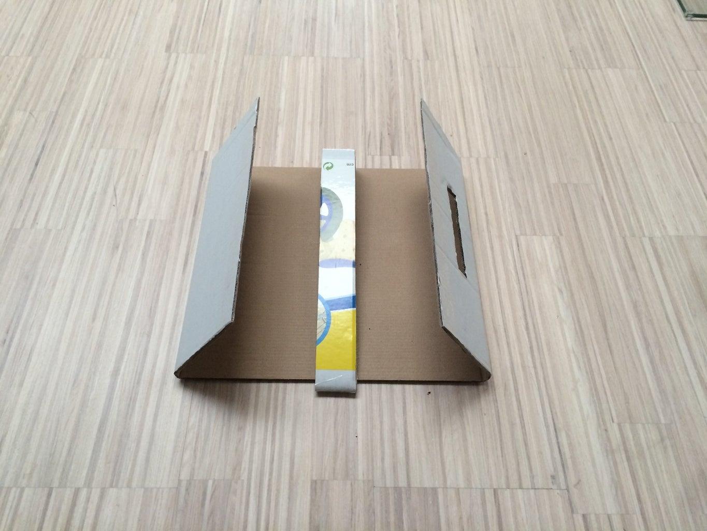 Cutting the Cardboard Box