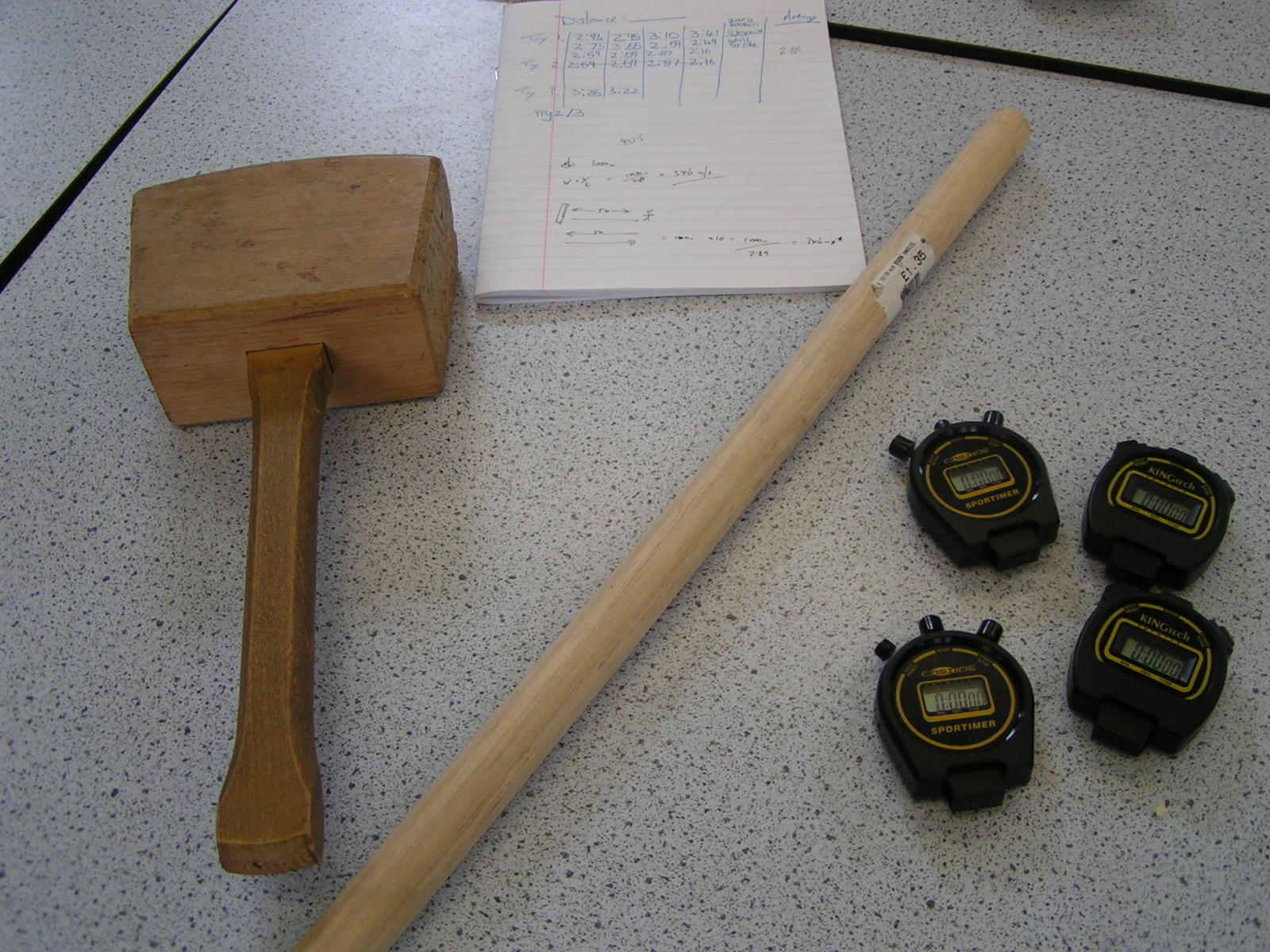 How to measure the speed of sound with two lumps of wood ...