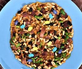 Rainbow Breakfast Cereal Pizza Brittle