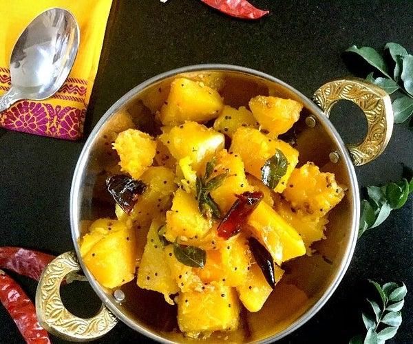South Indian Pumpkin Upkari/Stir Fry