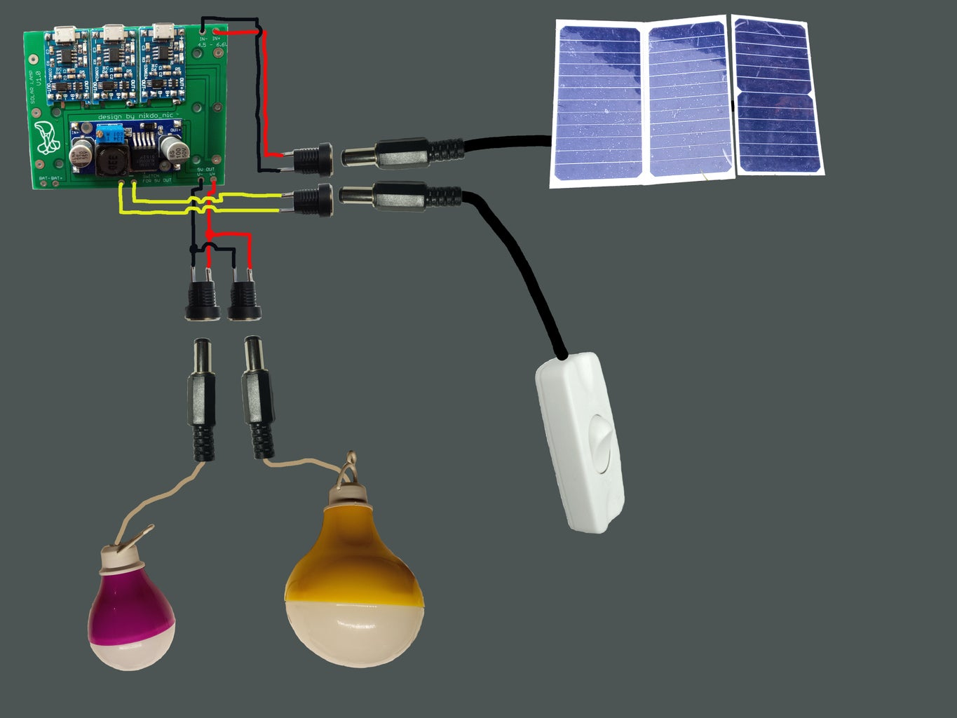 Portable Solar Lighting System or Battery Charger