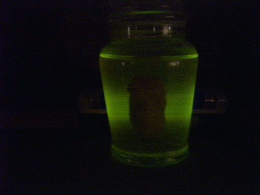 Eeire Glowing Body Part...