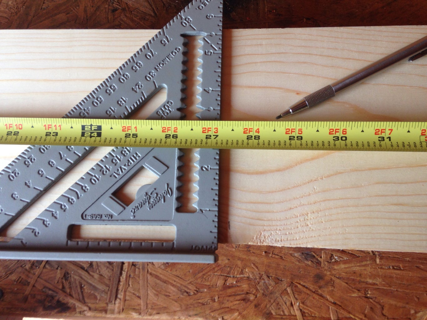 Marking and Cutting Boards to Length