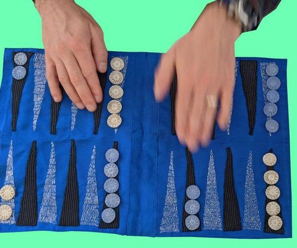 Upcycled Fabric Backgammon Board