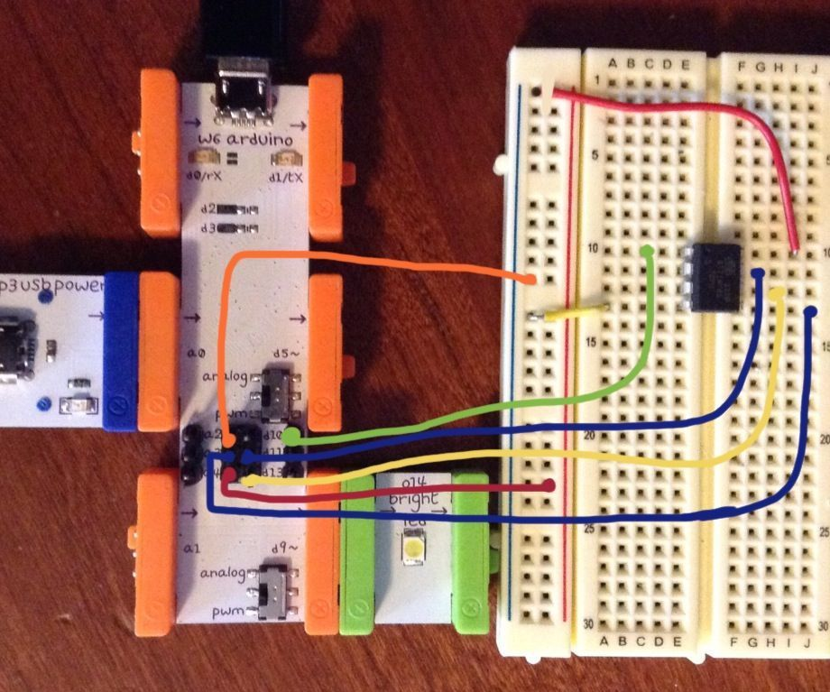 LittleBits Arduino as ATtiny programmer