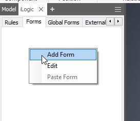 Create the Ilogic Form