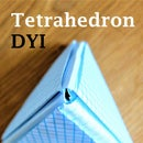 Tetrahedron 3D Model DYI Using Graphing Papers
