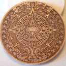 Aztec Pewter Coin From Laser Etched Template