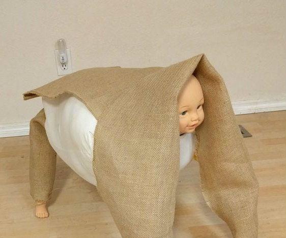 DIY Creepy Baby Prop