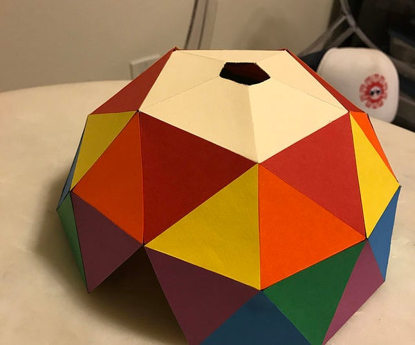 Cover for a Small 2v Geodesic Dome Using Waterproof Canvas