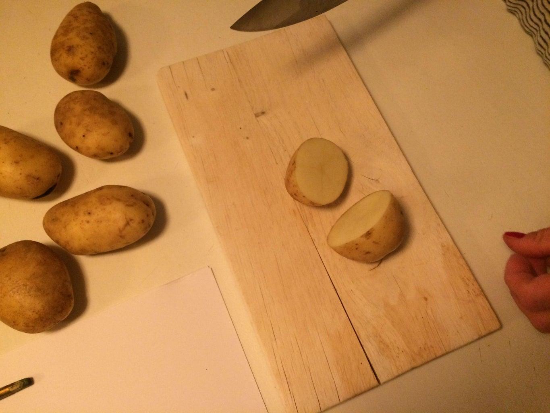 Cut Potato on Half