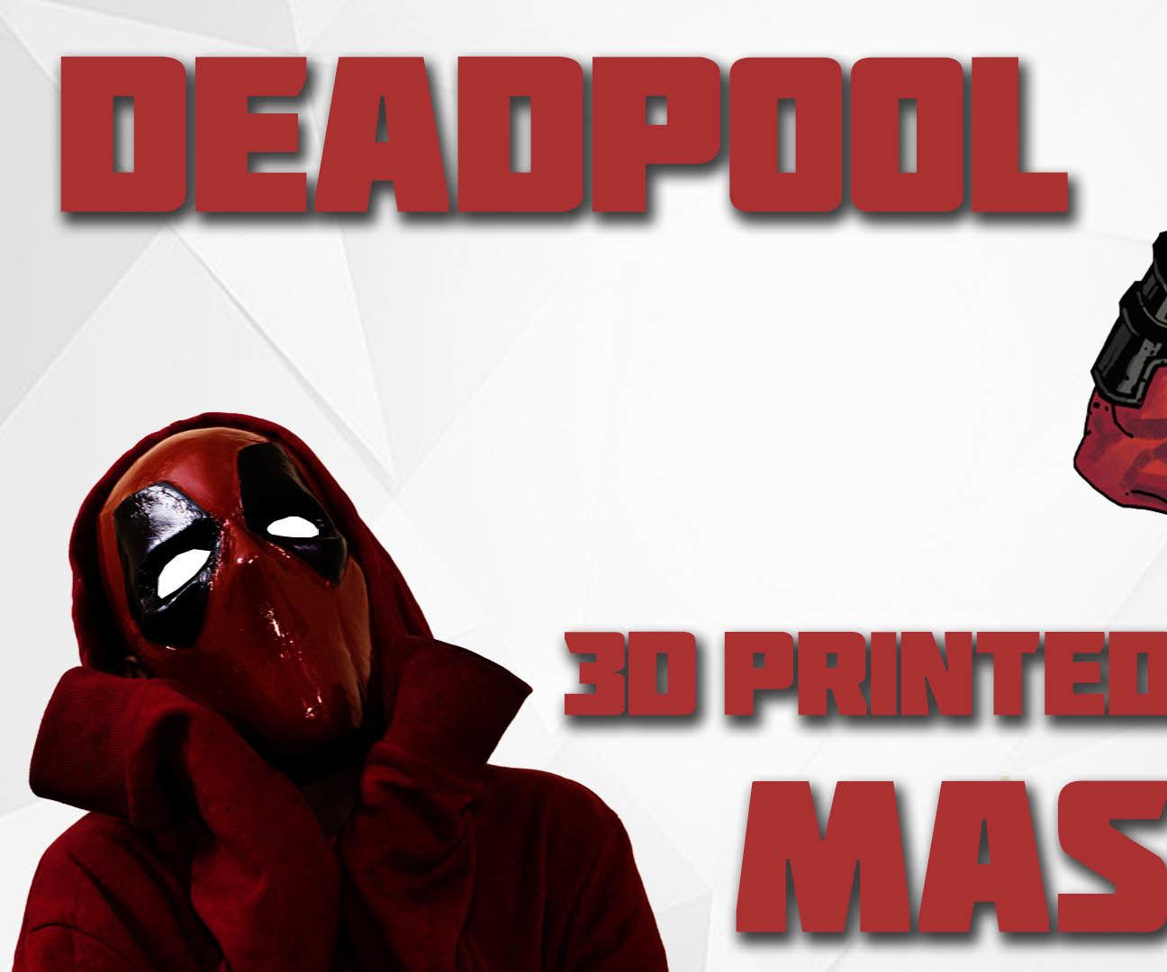 Deadpool 3D Printed Mask