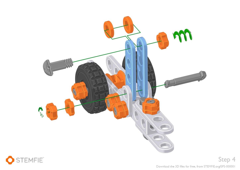 Assemble the STEMFIE Car