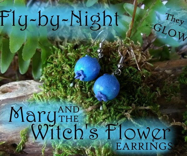 Fly-By-Night: Mary & the Witch's Flower Earrings