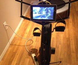 Exercise Bike Video Player Modification
