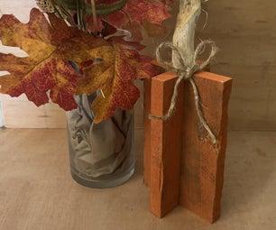 Rustic Wooden Pumpkin