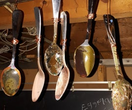 A Simple Way of Making Art by Electroplating Copper to Steel Spoons.
