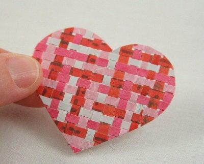 Weaving Paper Hearts