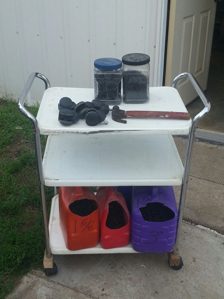 Workshop Hardware/supply Cart From Reclaimed Items.