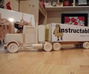 Making the Instructables Hauler (18 Wheeler)!