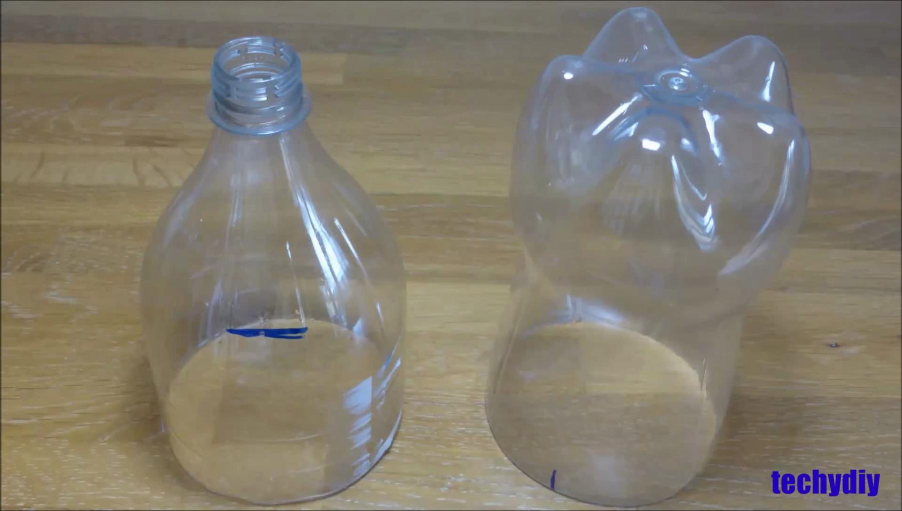 Cut the Coca Cola Bottle in Half