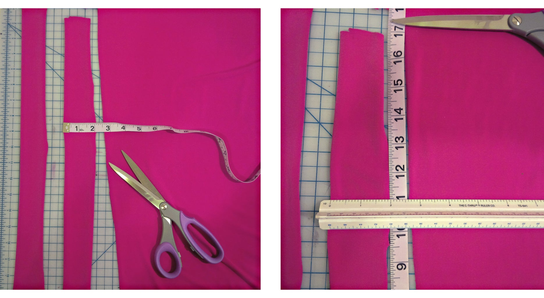 Measure and Cut Fabric for Halter Straps