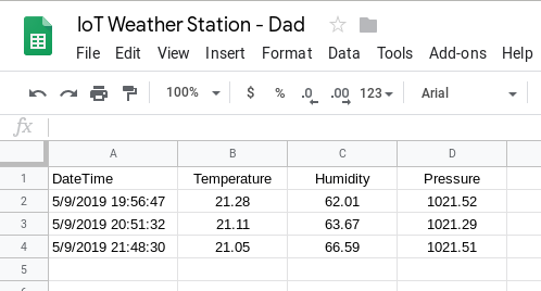 Another IoT Weather Station