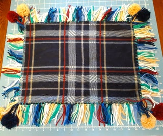 Colorful Fringed Upcycled Pet Bed