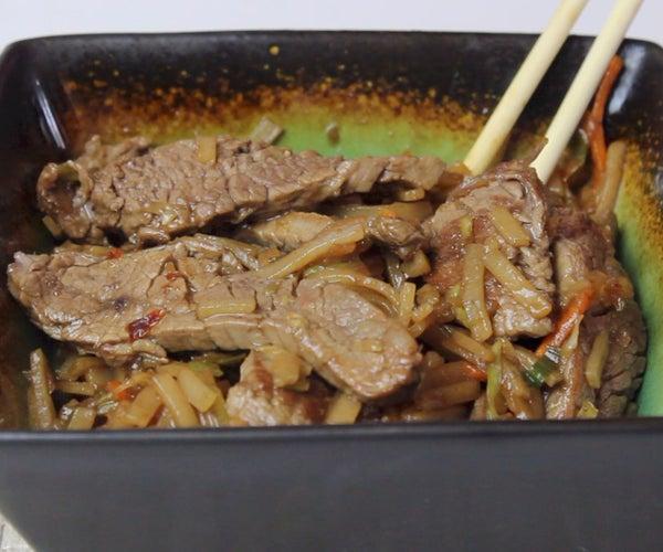 Gluten-Free Mongolian Beef Noodles