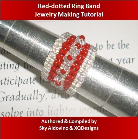 Red-dotted Ring Band Jewelry Making Video Tutorial