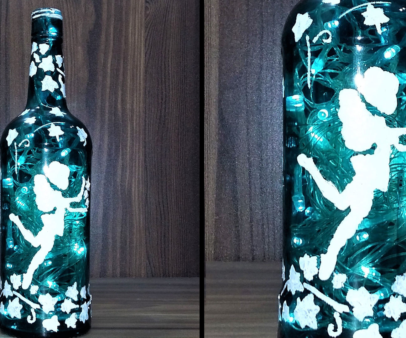 How to Make Blossoming Fairy Magical Wine Bottle With Twinkle Lights