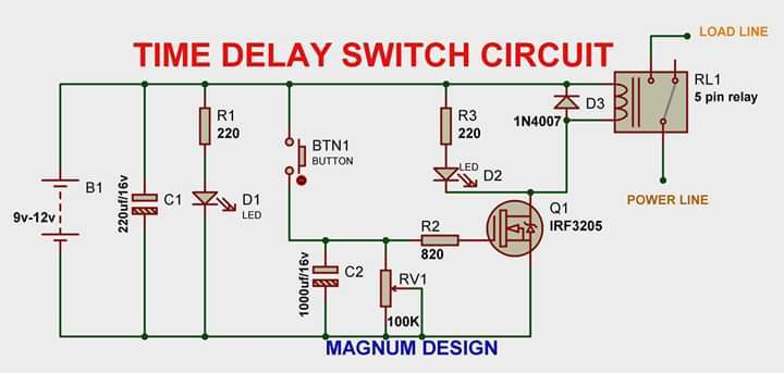Time Delay Switch Circuit   15 Steps  With Pictures
