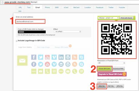 Generate QR Code Image