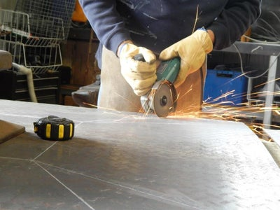 Cutting the Plate for the Bowl