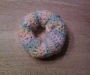 Yarn Wrapped Holey Sock