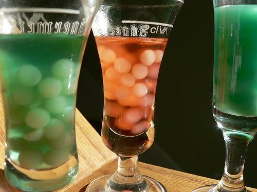 Creepy Bubble Halloween Cocktails