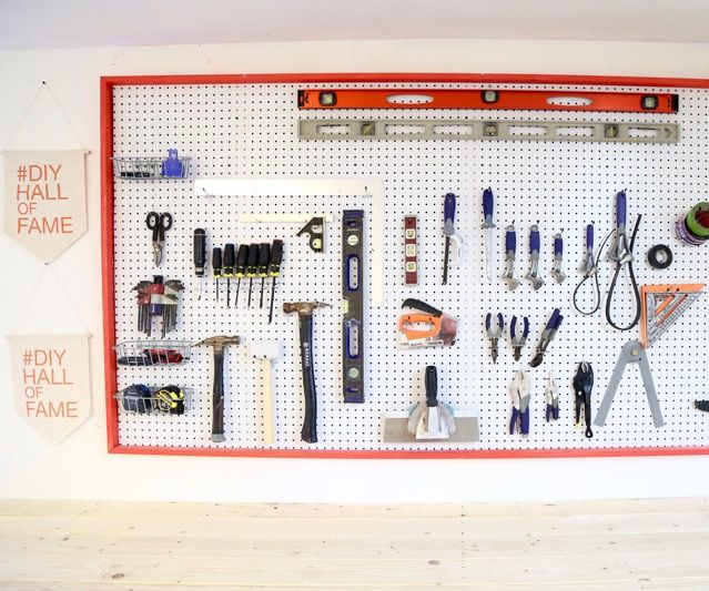 Organize Your Tools With This Giant Pegboard