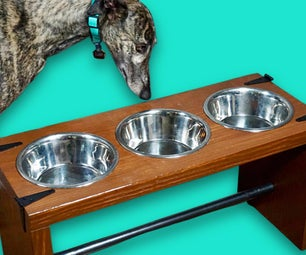 DIY Dog Bowl Stand for Two Pets
