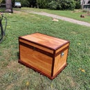 No-waste Plywood Trunk With Lid Storage and Walnut Trim