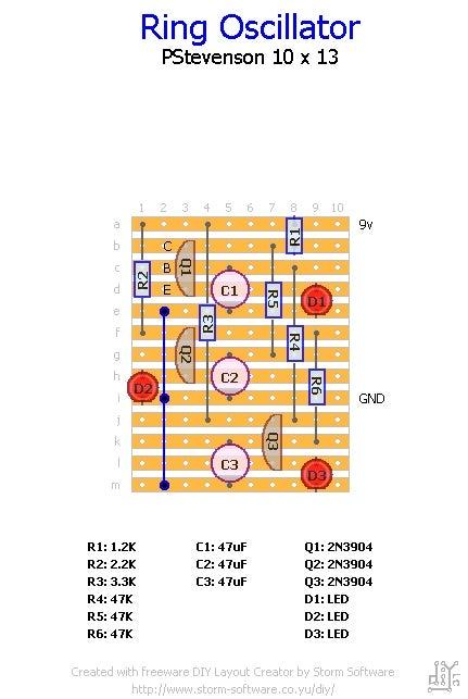LED Ring Oscillator
