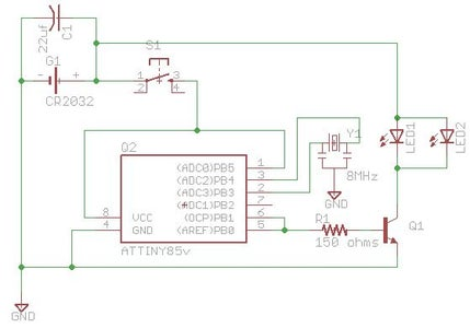 $3.50 DIY TV-B-Gone Micro : 20 Steps (with Pictures) - Instructables   Tv B Gone Circuit Diagram      Instructables