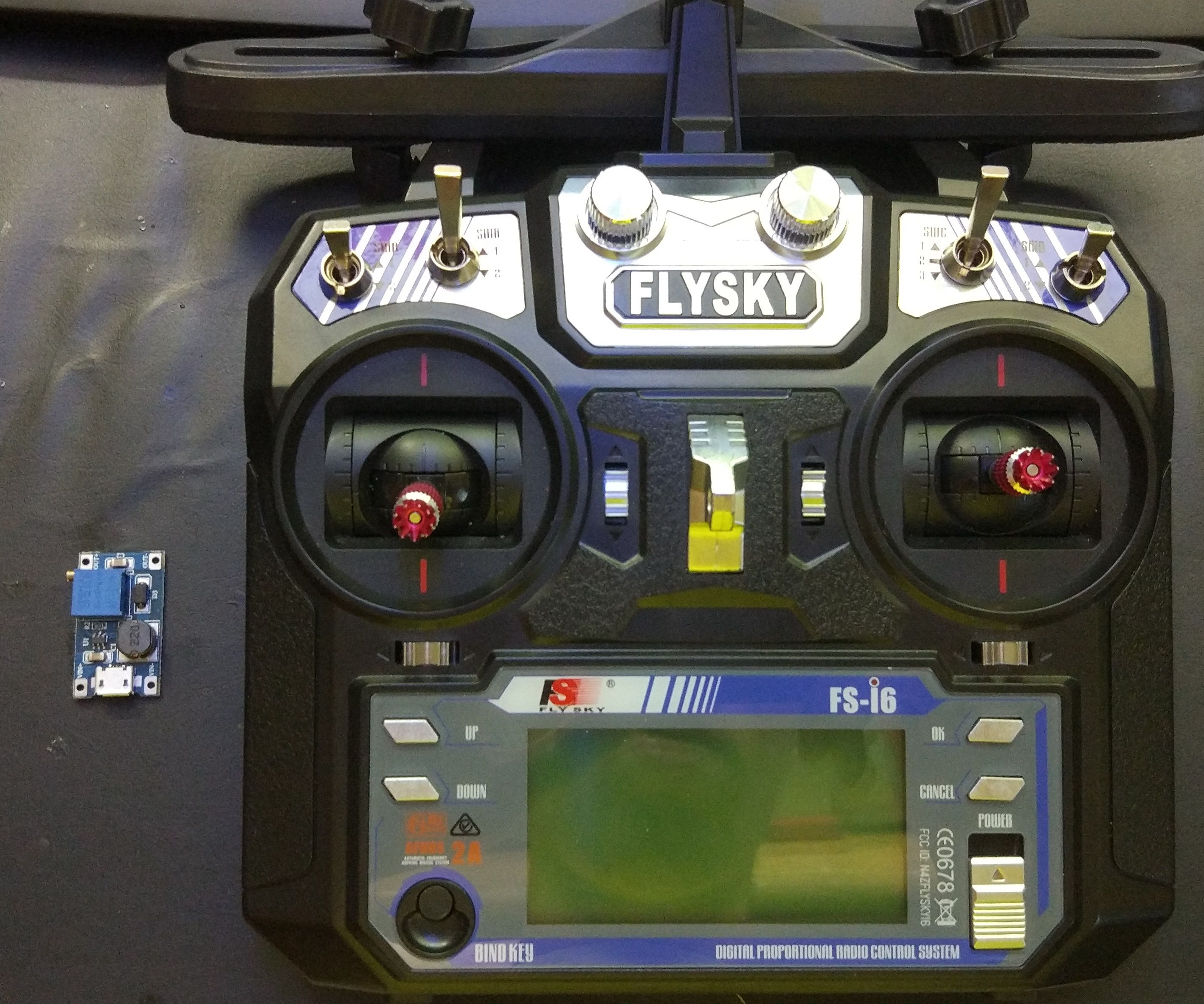 Power Supply the Flysky FS-I6 Controller With Micro USB or 2V to 6V Battery