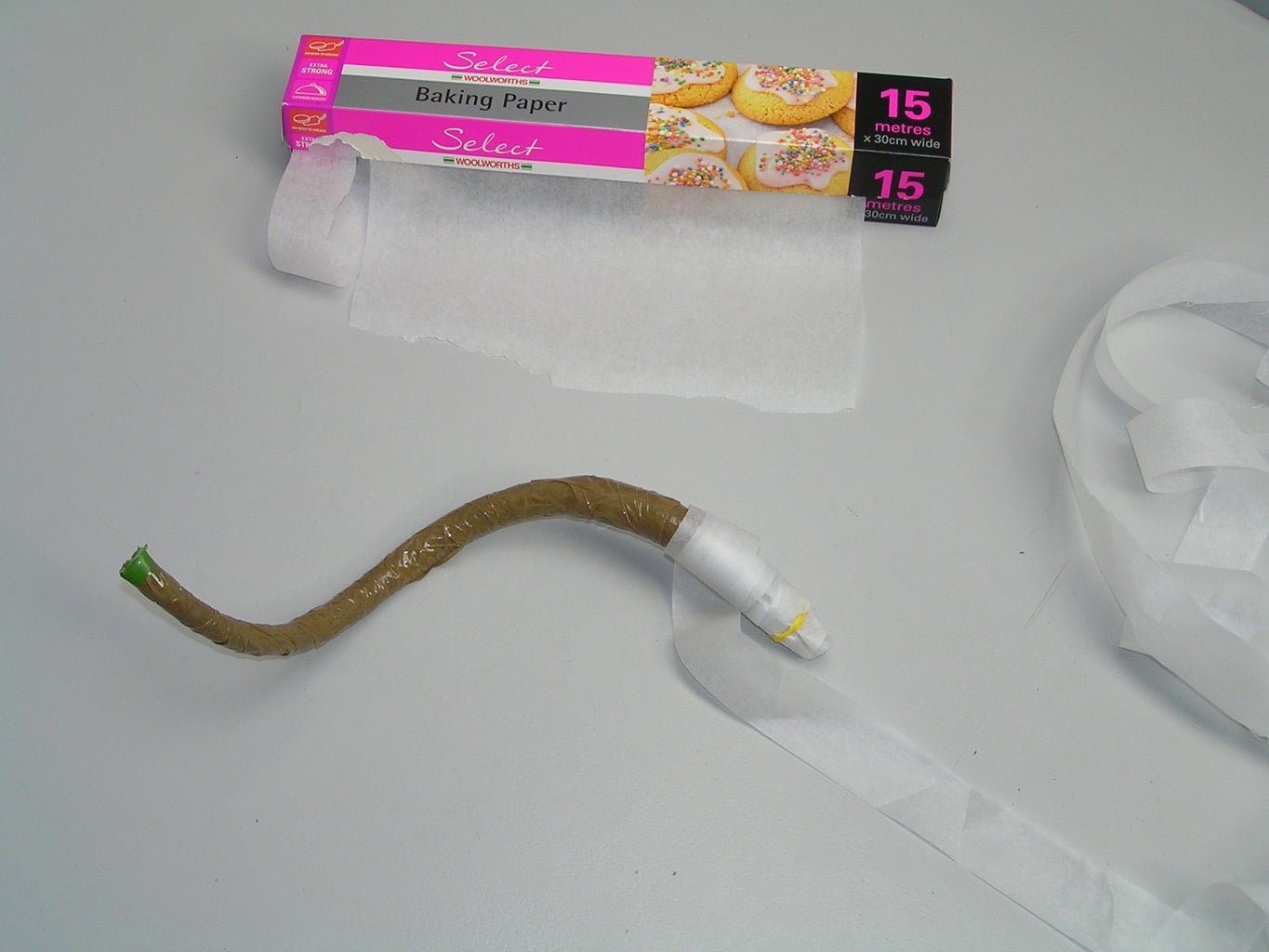 Wrap Plant Support in Cooking Paper.