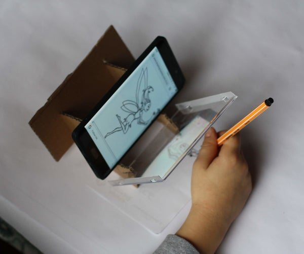 Cardboard Stand for Easy Drawing With Phone